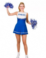 High School Cheerleader Blue Costume (EF2184)